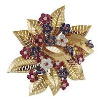 Van Cleef & Arpels Diamond and Gem-set Brooch