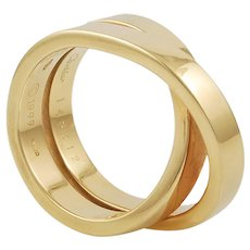 18K Yellow Gold Wedding Band by Cartier