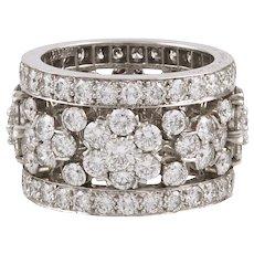 VAN CLEEF & ARPELS Diamond Snowflakes Band Ring