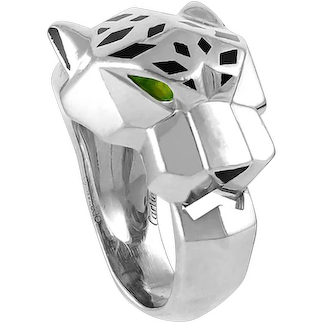 CARTIER Onyx and Tsavorite Panthere Ring