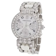 HARRY WINSTON Diamond, Mother of Pearl Wrist Watch
