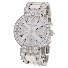 HARRY WINSTON Diamond, Mother of Pearl Wrist Watch