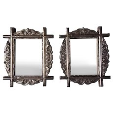 Pair of Indo-Portuguese Silver Mirror Frames