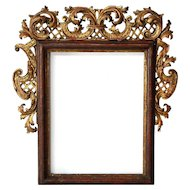 Swedish/German Baroque 18th Century Gilt Pine Mirror