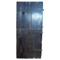 English 17th century Baroque Elm Two-Part Single Farmhouse Door