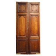 Large French Oak Louis LouisXVI  Panelled Double Door