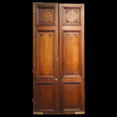 Large French Oak Louis LouisXVI  Panelled Double Door
