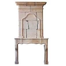 French Louis XIV Fireplace Surround and Overmantel