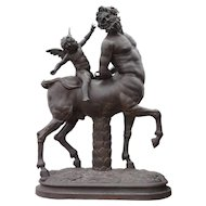After the Antique, French Cast Iron Sculpture, The Old Centaur
