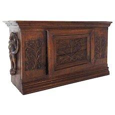 Small Scandinavian Oak Side Cupboard