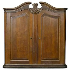 Large Danish Royal Parcel Gilt Wardrobe Cabinet