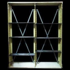 American Snead and Co. Painted Cast Iron Library Open Shelf