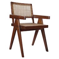PIERRE JEANNERET Numbered Teak Conference Chair from Chandigarh, India