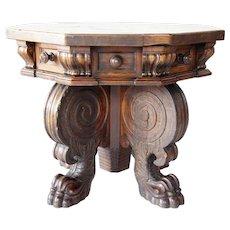 Northern Italian Renaissance Walnut Octagonal Side Table