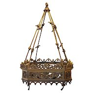 French Gilt Bronze Hanging Pendant Light