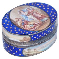 French Gilt Silver and Enamel Snuff Box