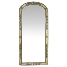 French Provincial Directoire Style Painted Arched Pier Mirror
