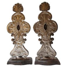 Pair of Indo-Portuguese Silver Reliquaries