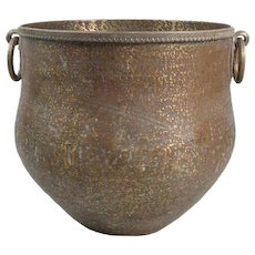 Large South Indian Hammered Copper Water Storage Pot