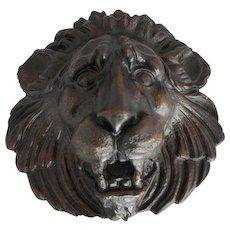 Large 18th Century  Style  Cast Bronze Lion Fountainhead