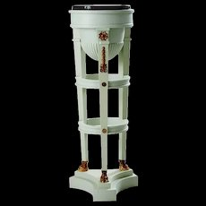 Swedish Empire Style Marble Top Painted Pine Pedestal
