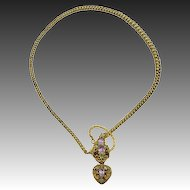 Victorian 18kt Snake Necklace in Fitted Case