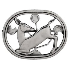 Georg Jensen Deer Brooch No. 256 by Arno Malinowski