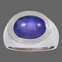 Georg Jensen & Wendel White Gold & Sapphire Ring