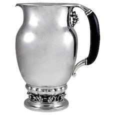 Georg Jensen Pitcher No. 407C with Ebony