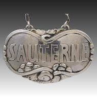 Georg Jensen Sauterne Liquor Label