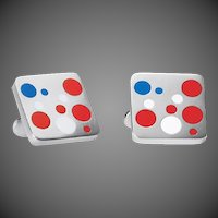 Georg Jensen Red, White & Blue Cufflinks