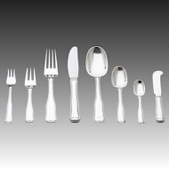 Georg Jensen Sterling Silver Eight-piece Flatware Service for Twelve in Old Danish Pattern