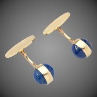 Georg Jensen Gold Cufflinks No. 1104 with Lapis