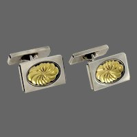 Georg Jensen Sterling & Gold Cufflinks No. 59A