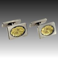 Georg Jensen Sterling & Gold Cufflinks No. 59A