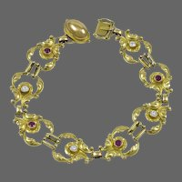 Georg Jensen 18kt Bracelet No. 172 with Diamonds & Rubies