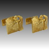Bjorn Weckstrom Gold Cufflinks for Lapponia