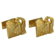 Bjorn Weckstrom Gold Cufflinks for Lapponia