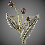 Tiffany & Co. Floral Brooch with Garnets