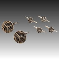 Georg Jensen Sterling Cufflink and Stud Set No. 60A