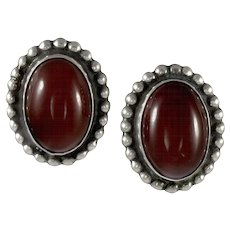 Georg Jensen Earrings No.59 Carnelian