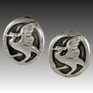 Georg Jensen Silver Earrings No. 65