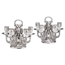 Georg Jensen Five-Light Candelabra NO. 383A -Pair