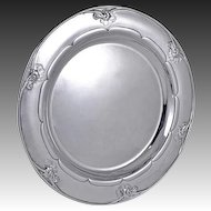 Georg Jensen Sterling Silver Round Tray or Salver No. 232E