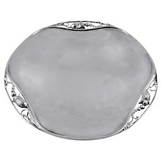 Georg Jensen Sterling Silver Round Tray No. 2A