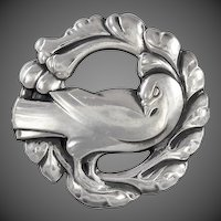 Georg Jensen Silver Dove Brooch No. 123