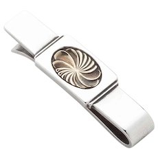 Georg Jensen Sterling Silver Tie Bar No. 76 with Gold
