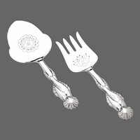Georg Jensen 2-Piece Fish Serving Set No. 55