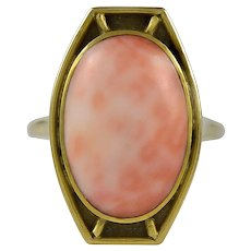 Lebolt Coral & Gold Ring