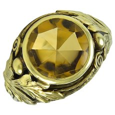 Margaret Rogers Gold Ring with Citrine